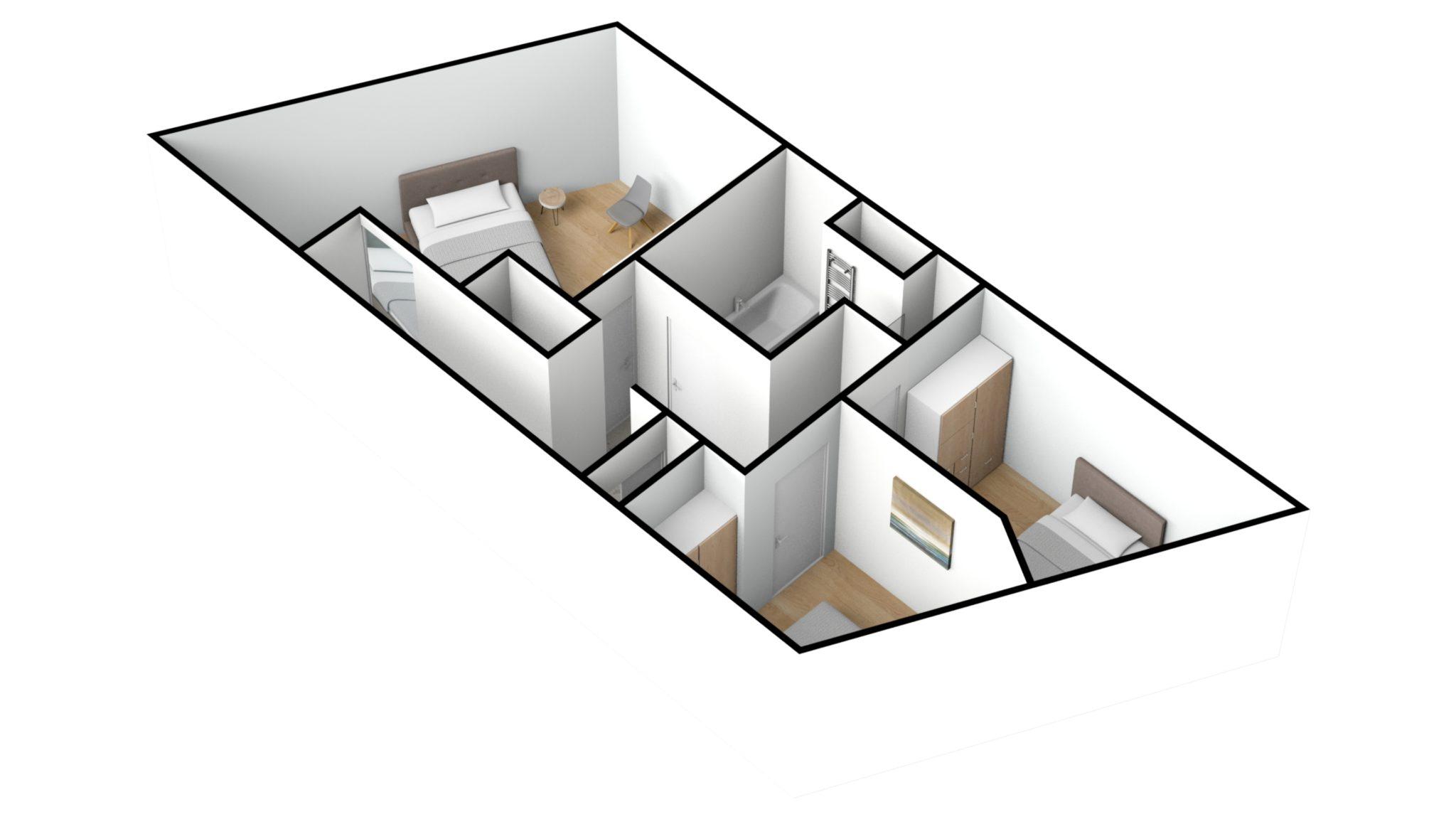 Astridlaan duplex 2e verdiep 3D NW