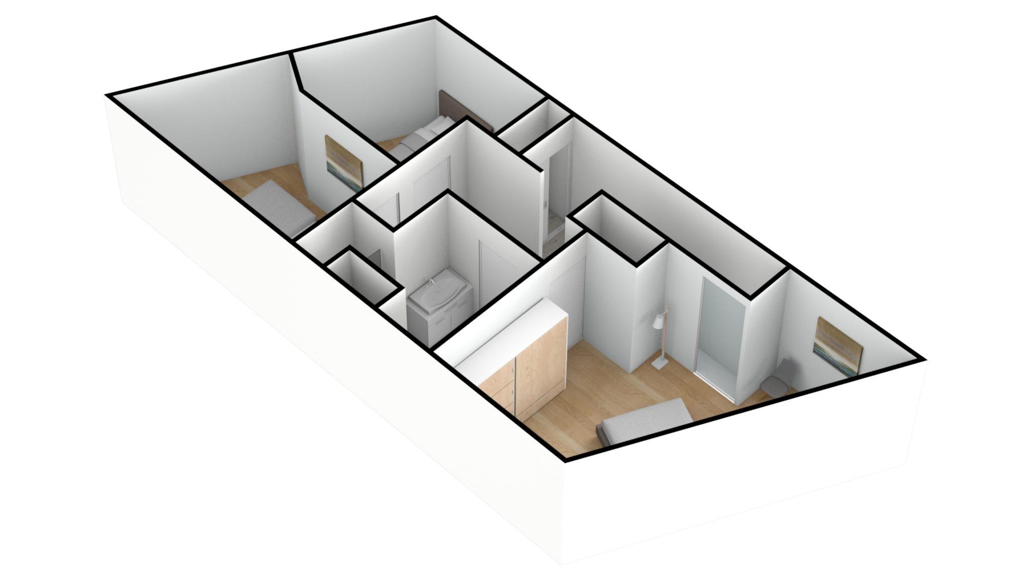 Astridlaan duplex 2e verdiep 3D SE