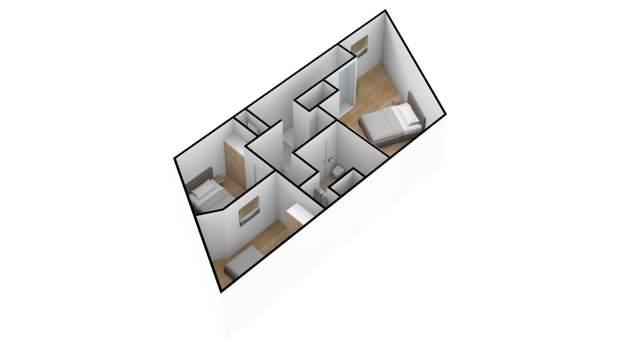 Astridlaan duplex 2e verdiep 3D SW