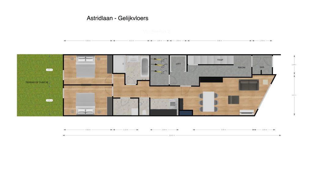 Astridlaan glv 2D plan