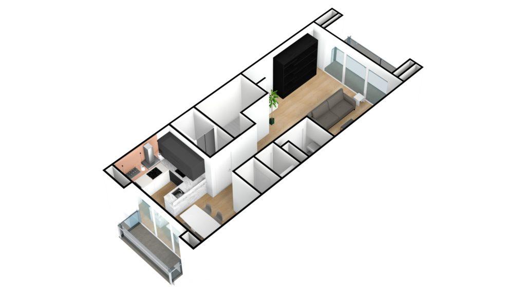 Kapelstraat duplex 1e verdiep 3D NE