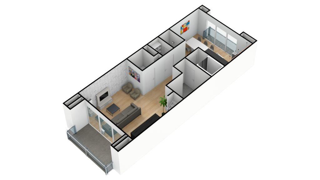 Kapelstraat duplex 1e verdiep 3D SW