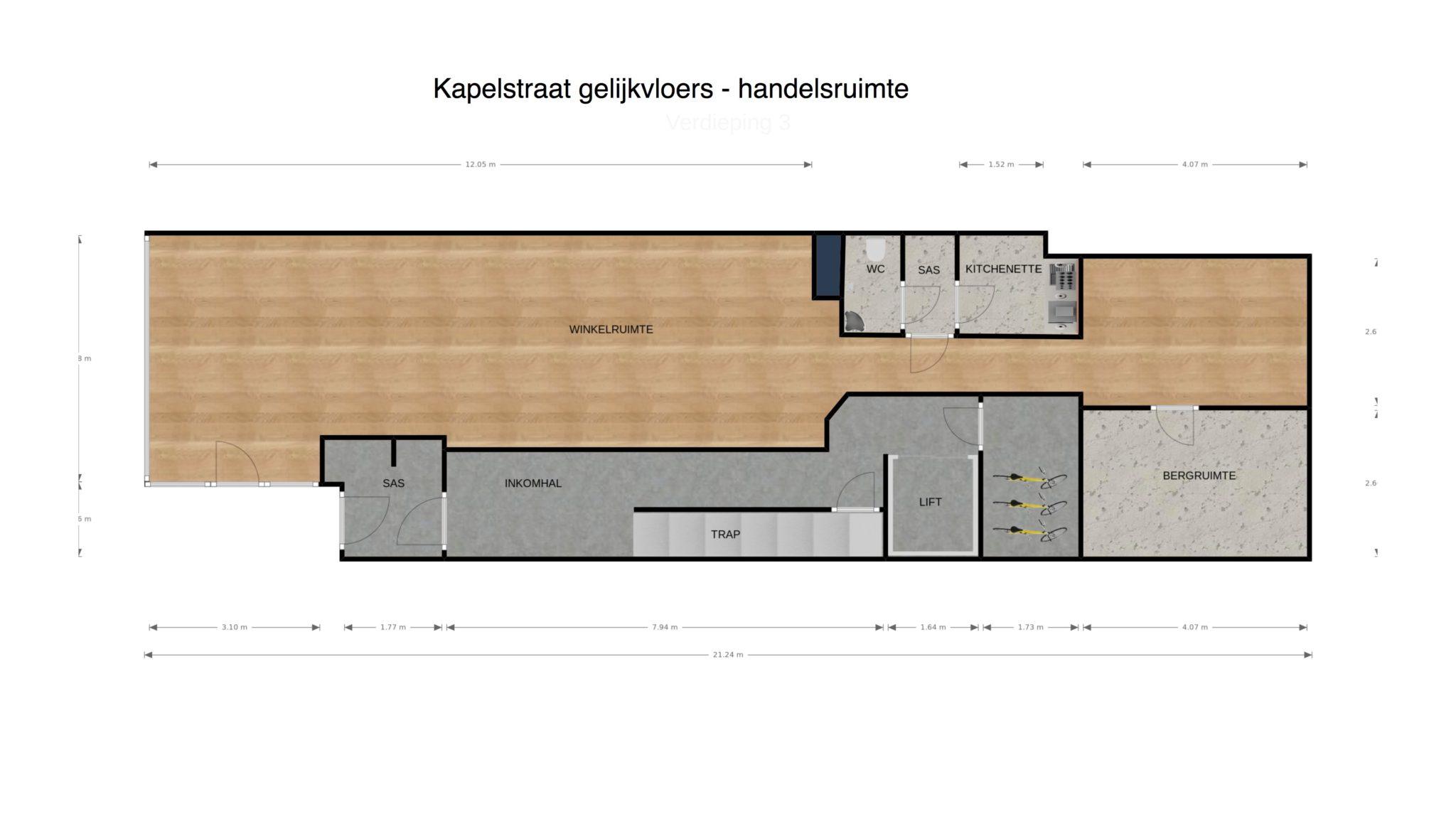 Kapelstraat glv 2D plan
